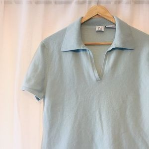 Baby Blue Polo Cashmere Sweater
